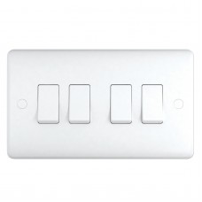 2 Way 4 Gang Switch, wall fitting ST1042