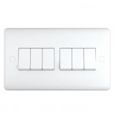 2 Way 6 Gang Switch, wall fitting ST1062