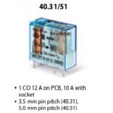Relay, Miniature, 40 Series,40.31 PCB-Plug in