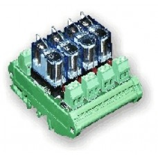 Relay Module RM4-F / FSC384, 4Ch. SPCO 24vdc, 5A Fuse common contact