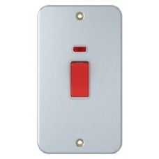 45A Double Pole Switch, vertical style Metal Clad, SM1145