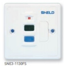 13A Fused Spur Units, SNE3 1130FS Unswitched with RCD