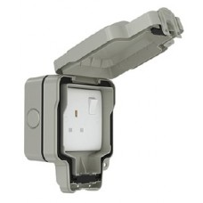 13A 1 Gang Weatherproof Switched Socket Double Pole, IP66, SWP4090
