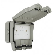 13A 2 Gang Weatherproof Switched Socket, Double Pole, IP66, SWP4100