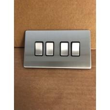 4 Gang 2 Way Switches, wall fitting SLM1042BCBM